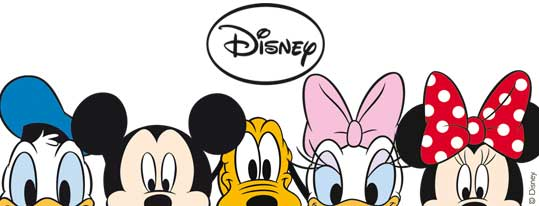 Donald, Mickey, Pluto, Daisy, and Minnie!